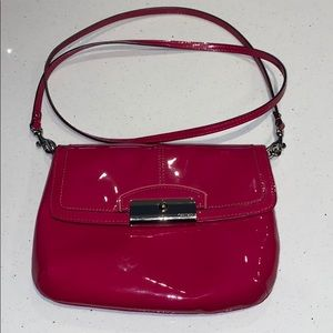 Coach Patent leather Pink crossbody bag